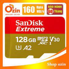 RẺ VÔ ĐỊCH] Thẻ nhớ Micro SD Sandisk Extreme A2 256GB 128GB 64GB U3 4K  160MB/s 95 chính hãng 399,000đ