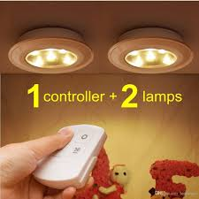 2018 misso stick on portable wireless remote control puck light under cabinet closet light with controller night light battery operated from ledmisso