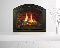 heat glo cerona gas fireplace42 valencia black front and firebrick