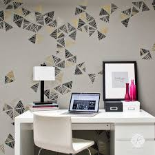 modern pinwheel wall art stencils diy