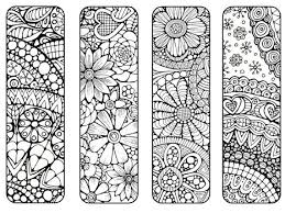 bookmarks to color and print bookmark coloring page digital nature flowers coloring page