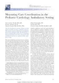 PDF) Measuring Care Coordination in the Pediatric Cardiology Ambulatory  Setting