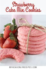 Light Fluffy Strawberry Cookies My Heavenly Recipes