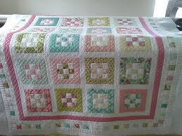Free quilt pattern from Craftsy.com   quilts   Pinterest   Moda ... & Free quilt pattern from Moda Bake Shop - nine-patch blocks and sashing,  colored border, white and colored squares border between 2 white borders. Adamdwight.com