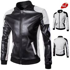 fashion autumn winter men leather jacket coat long sleeve zipper motorcycle leather jacket men s outerwear sweatshirt men o8r2
