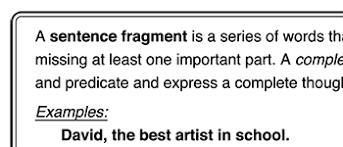 Sentence Fragments Sentence Fragments Worksheetworks Com