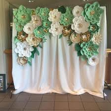 Paper Flower Backdrop Rental Paper Flower Backdrop Rentals Floral By Emily Jane