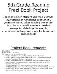Prezi Or Powerpoint Book Project Instructions Rubric Tpt