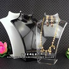 Acrylic Necklace Display Stands Impressive Fashion Jewelry Display Bust Acrylic Storage Box Mannequin Jewelry
