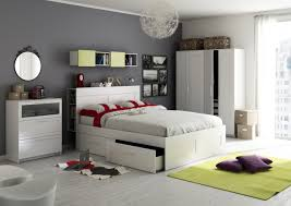 Modern IKEA White Bedroom Furniture Decorating with IKEA White