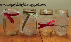 How To Decorate A Mason Jar With Ribbon Home