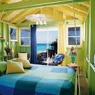 Decorating with yellow green and blue