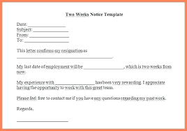 2 Week Resignation Letter Interesting 48 Week Notice Email Template Resignation Letter 48 Week Notice Email