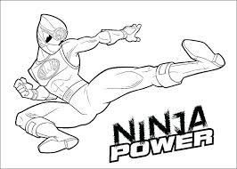 mighty power rangers coloring pages children printable free pow