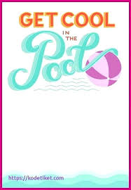 Free Pool Party Invitations Printable Printable Party Invitations Pool Party Invitations Templates