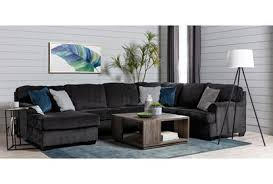 """Calvin Slate 3 Piece 137"""" Sectional with Left Arm Facing Chaise ..."""