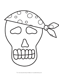Small Picture Skeleton Pirate Picture To ColorPiratePrintable Coloring Pages