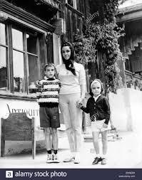 elizabeth taylor children. Delighful Elizabeth Elizabeth Taylor With Her Children On Vacation In Switzerland  Stock Image Throughout Children O