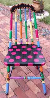 colorful painted furniture. Delighful Painted Handpainted OOAK Chair  Custom Colorful Painted Chair Pink Okra To Furniture A