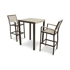 outdoor bar height table sets trex