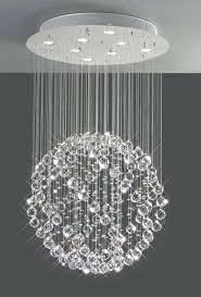 chandelier crystal ball sparkling floating crystal ball pendant chandelier 3 sizes with regard to crystal ball