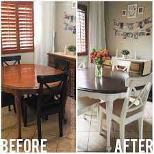 painted furniture ideas tables. refinished dining table tutorial stained and painted white for a bit of farmhouse look good info on stain sealing wood finish furniture ideas tables
