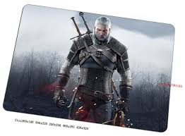 cool office gear. Witcher Mouse Pad High-end Gaming Mousepad Gear Cool Gamer Mat Game Computer Office S