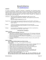 Sample Resume For Dot Net Developer Experience 2 Years Archives
