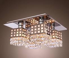 lightess com supplies lightess ceiling light crystal flush mount light fixture modern stainless steel chandelier