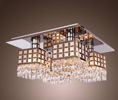 lightess com supplies lightess ceiling light crystal flush mount light fixture modern stainless steel chandelier