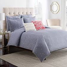 chambray dot duvet cover
