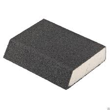 <b>Губка для шлифования</b>, <b>120 х 90 х 25 мм</b>., трапеция, мягкая, P40 ...