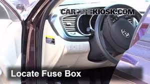 interior fuse box location kia optima kia optima interior fuse box location 2011 2016 kia optima 2011 kia optima ex 2 4l 4 cyl