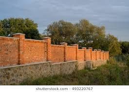 brick fences. Beautiful Brick Red Brick Fence On Sunset For Brick Fences N