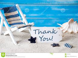 Summer Thank You Summer Label With Deck Chair Thank You Stock Image Image Of Blue