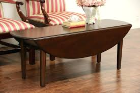 vintage retro coffee table modern coffee tables sold kittinger signed oval dropleaf mahogany vintage coffee round