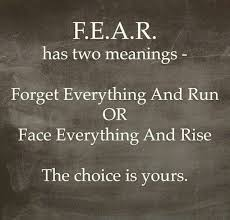 Quotes Of Strength Delectable Inspirational Quotes About Strength FEAR Choose One Quotes