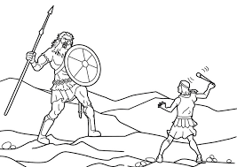 Small Picture David and goliath fight coloring pages to print ColoringStar