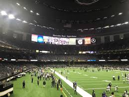 Mercedes Dome New Orleans Seating Chart Superdome Section 104 New Orleans Saints Rateyourseats Com