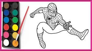 6 mẫu tranh tô màu người nhện cho bé trai không thể bỏ qua