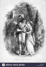 the song of hiawatha illustration to epic poem by henry stock photo the song of hiawatha illustration to 1885 epic poem by henry wadsworth longfellow caption pleasant was their journey