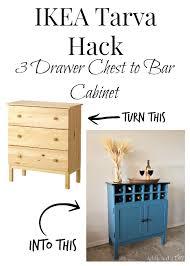 diy ikea tarva. IKEA Tarva Hack 3 Drawer Chest To Bar Cabinet Diy Ikea U