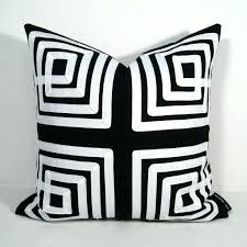 black outdoor pillows black white indoor outdoor pillow cover with modern key black black striped outdoor