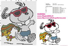 Snoopy Embroidery Designs Free Free Cross Stitch Pattern Peanuts Snoopy And Woodstock On