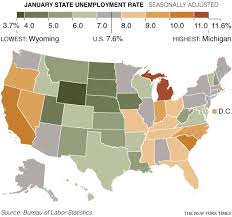 State By State Unemployment Levels The New York Times
