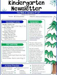 Music Newsletter Templates Newsletter Template January Preschool U2013 Updrillfamily Science