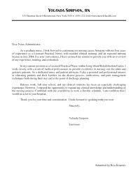 Cover Letter Sample For Rn New Nurse Cover Letter Sample In Cover