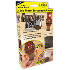 Kitchen Chair Leg Floor Protectors As Seen On Tv Furniture Feet Large Walmartcom