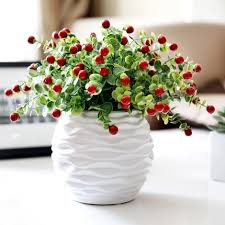PVC Red Berries Rich Fruit Decorative Blueberry Fruit Berry Decorative Plants For Home