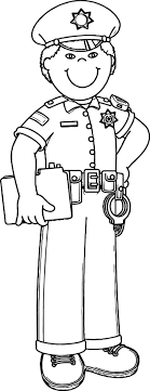Small Picture Coloring Pages Of Police Officers Police Officer Coloring Pages